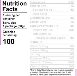 Servings per Container Information